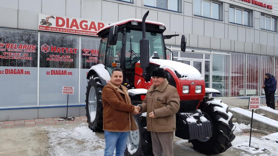 Livrarea tractorului Belarus MTZ 1523.3 de 158 CP in Braila a incununat cu succes anul 2018!