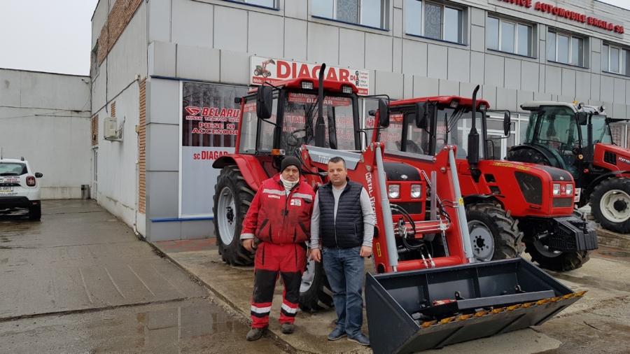 Dotari suplimentare pe un tractor Belarus MTZ 1025.3